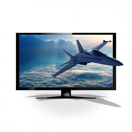 3D TV on white