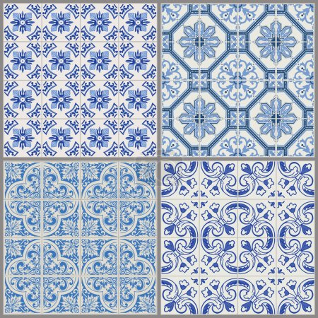 Illustration for Seamless Vintage Background Collection - Victorian Tile in vector - Royalty Free Image