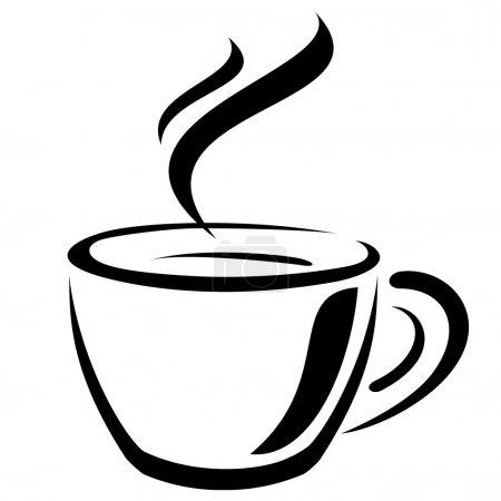 Illustration pour Tasse à café signe - image libre de droit