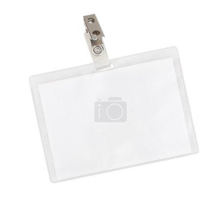Photo pour Badge blanc isolé sur fond blanc - image libre de droit