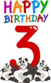 Third birthday anniversary design