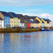 Panorama of the Claddagh in Galway city, Ireland....