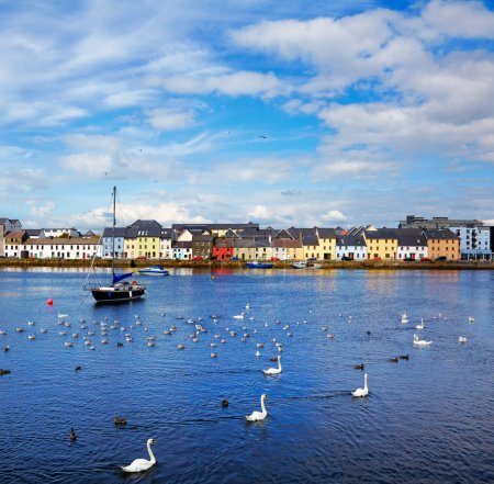 The Claddagh in Galway city during summertime, Ire...