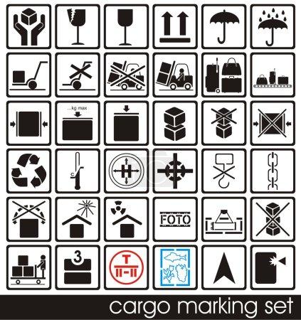 Cargo marking set