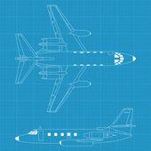 Modern civil airplane