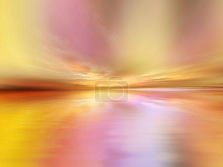 Photo pour Paysage fond approprié comme toile de fond pour les projets en art, musique, religion et spiritualité - image libre de droit