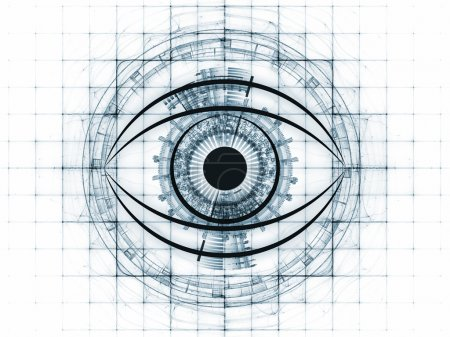 Eye outlines, fractal and abstract design elements...