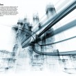 Interplay of abstract building structures and ligh...