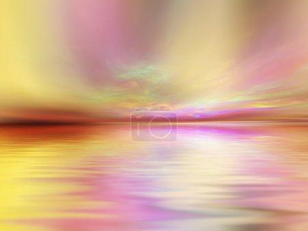 Photo pour Fond de lever de soleil fractal adapté comme toile de fond aux projets sur l'art, musique, religion et spiritualité - image libre de droit