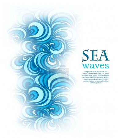 Abstract background with sea blue wave...