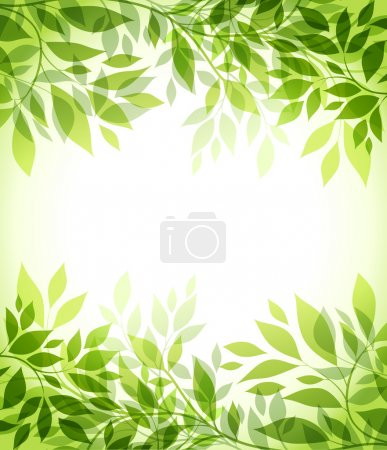 Illustration for Abstract background with green sheet - Royalty Free Image