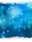 Modré pozadí s sněhové vločky. EPS 8
