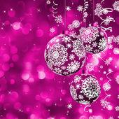 Elegantní vánoční přání s míčky. EPS 8