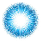 Blue light explosion Vector illustration