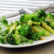 Salad with broccoli fried with spices