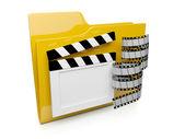 3D dosszié ikon-val a video-hoz számítógép operációs rendszer