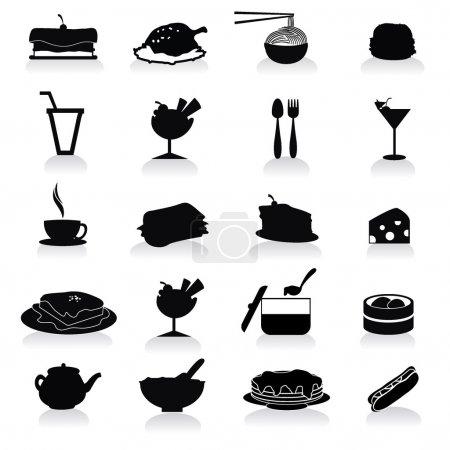 Photo pour Icônes de la nourriture et des boissons pour la fête, occasion, et d'autres - image libre de droit
