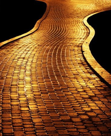 Golden path leading to success...