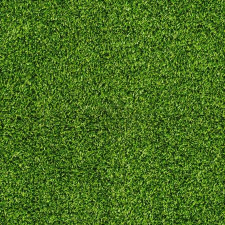 Photo pour Texture de terrain de gazon artificiel sans soudure - image libre de droit