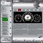 Template web site about automotive topics.