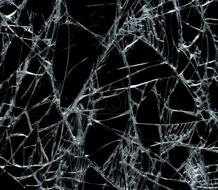 Photo for Broken glass over black background - Royalty Free Image