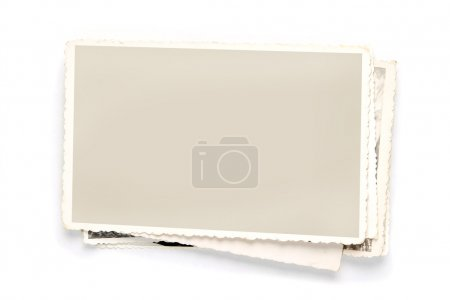 Photo for Stack of old photos with clipping path for the inside - Royalty Free Image