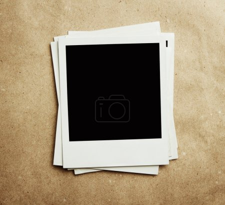 Blank vintage instant photos with path