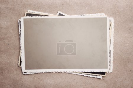 Photo for Stack of vintage photos at recycled paper with clipping path - Royalty Free Image