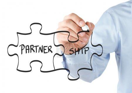 concept de puzzle de partenariat