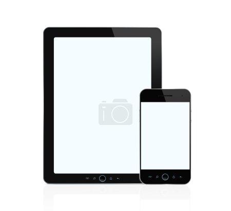 Blank digital tablet and smart phone