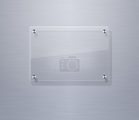 Blank glass plate