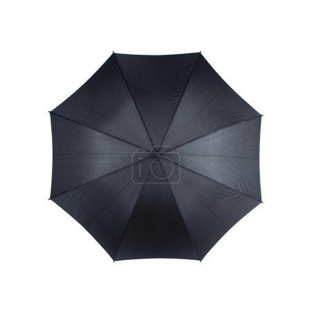 Photo pour Vue de dessus du parapluie noir isolé sur fond blanc - image libre de droit