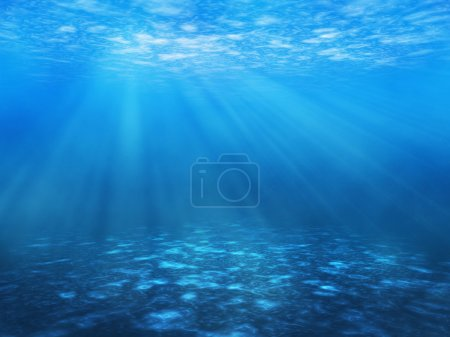 Tranquil underwater scene with copy space...