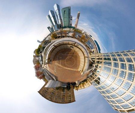 Photo pour Centre d'affaires de la ville de Moscou photographie panoramique, Russie - image libre de droit