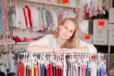 Photo for Woman shop assistant or retail seller. - Royalty Free Image