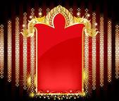 Elegantní zlatý vzor a červená místa
