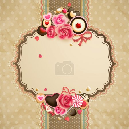 Valentines Day vintage lace card