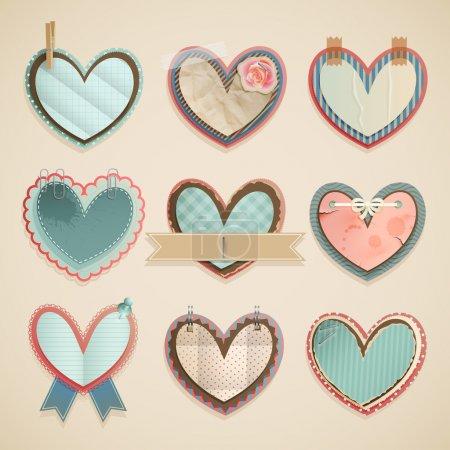 Valentine`s Day scrapbooking elements