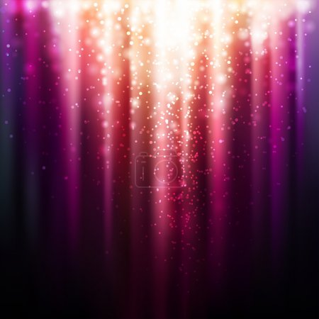 Abstract background with magic light. Vector illus...