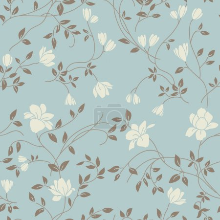 Illustration for Light floral vintage seamless pattern for retro wallpapers - Royalty Free Image