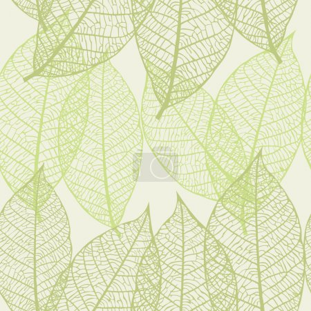 Illustration for Seamless vector texture with leaves - Royalty Free Image