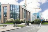 Neubauten in Brüssel. Das Europäische Parlament, Belgien