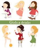 Girls and drinks