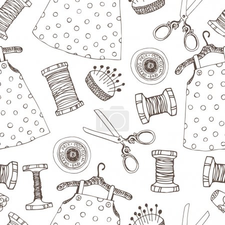 Sewing seamless background