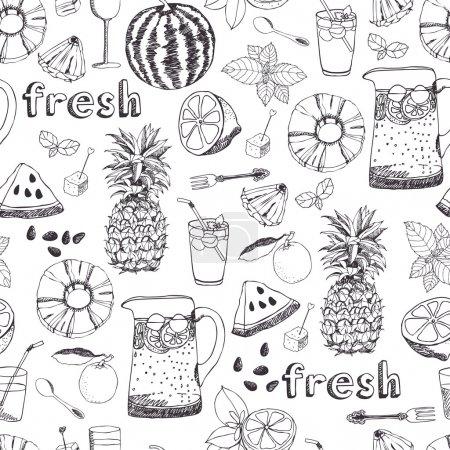 Illustration pour Fond de fraîcheur d'été - image libre de droit
