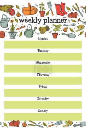 Weekly planner. Spring planting...