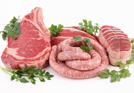 Photo for Raw meats and parsley - Royalty Free Image