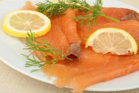 Fresh smoked salmon