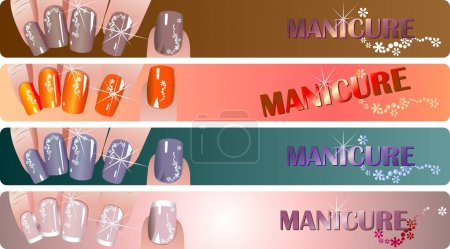Manicure banners set