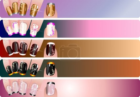 French manicure banners